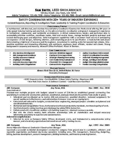Safety Coordinator   Resume Examples   Resume objective sample, Resume examples, Resume