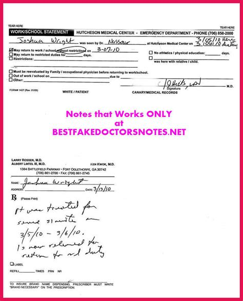 Patient First Doctor S Note Sop Exles Patient Doctor S Note Template