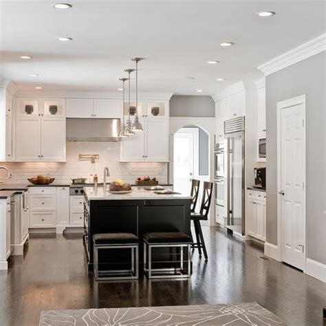 u shaped kitchens with islands u shaped kitchen with narrow center island home design ideas pictures remodel and decor