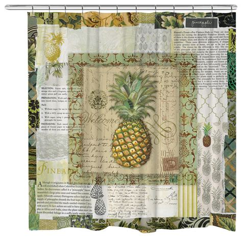 pineapple curtains beauty in nature pineapple shower curtain shower
