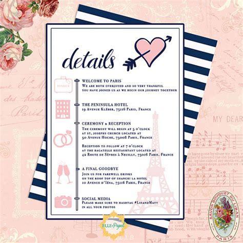 destination wedding itinerary day of itinerary paris
