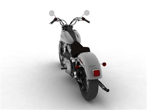 Harley Davidson FXDB Street Bob 2011 3d Model Motorcycle Standard 3ds max c4d obj AR VR