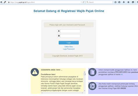 tutorial mengisi npwp online cara mendaftar npwp online resource and information