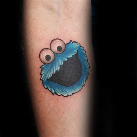 cookie monster tattoo 30 cookie designs for muppet ink ideas
