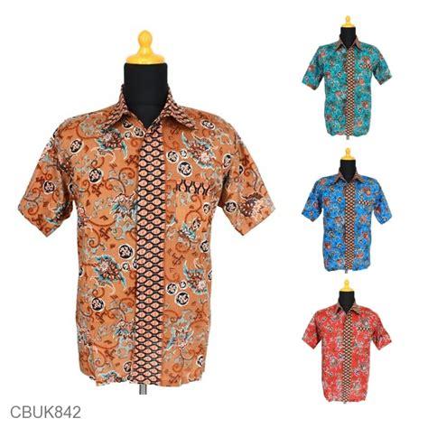 Kemeja Pendek Motif Batik by Kemeja Batik Motif Ganggang Tumpal Kemeja Lengan Pendek