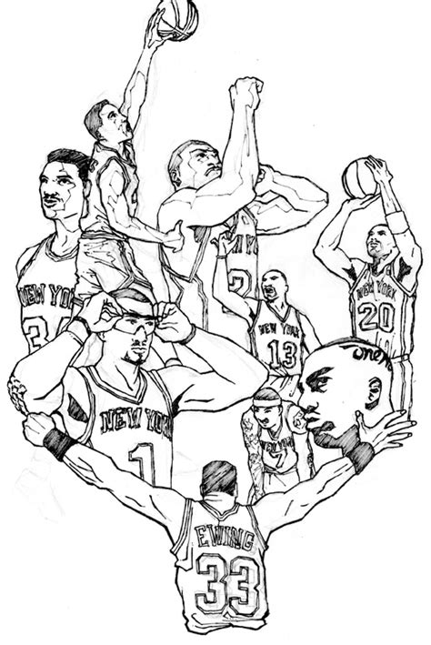 knicks basketball coloring pages carmelo anthony free colouring pages