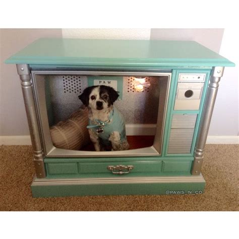 dog house beds tiffany and company inspired dog bed dog house made from vintage tv must luv dogs