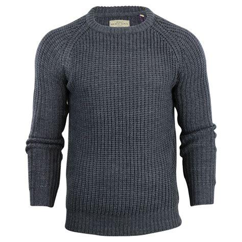 fisherman sweaters mens jumper brave soul konstantin fisherman knit crew neck