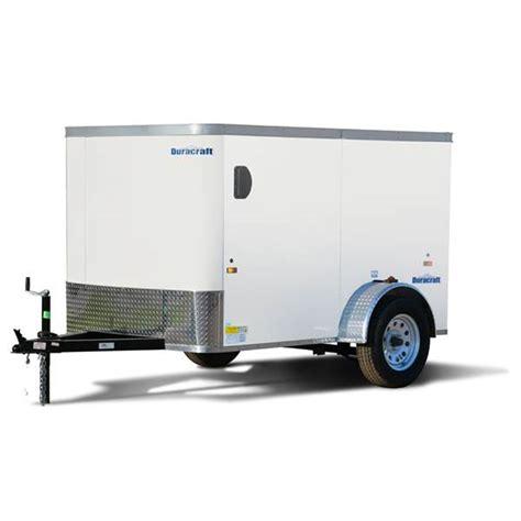 trailer white duracraft 8 white enclosed trailer