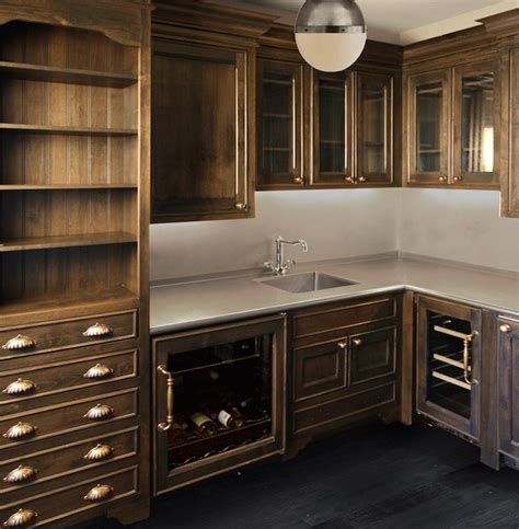 Butler Pantry Cabinets by Butlers Pantry With Cabinets Transitional Kitchen