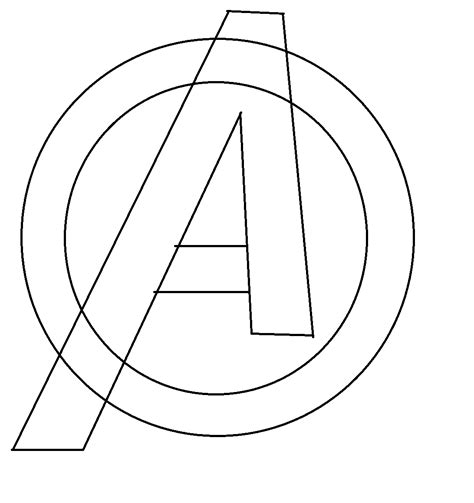 avengers logo coloring page avengers symbol coloring pages sketch coloring page