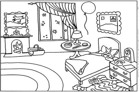 bedroom for coloring bedroom 13 buildings and architecture printable