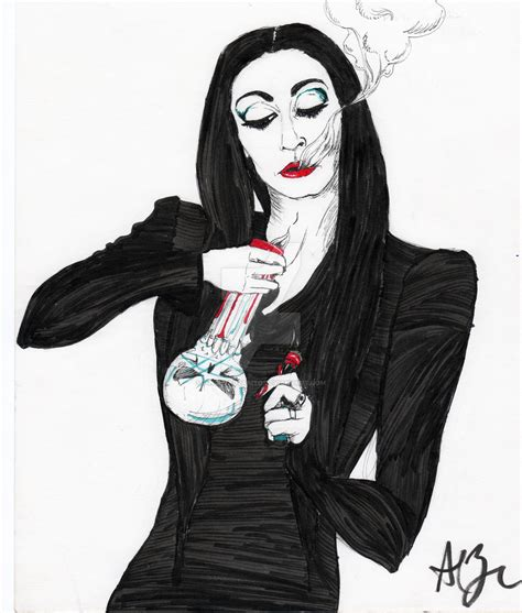 morticia addams rip by pinchealvarito on deviantart