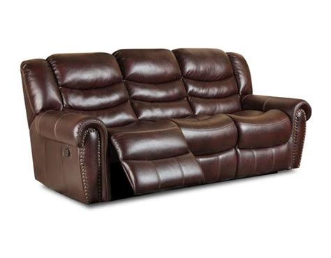 salinger burgundy reclining sofa by corinthian at