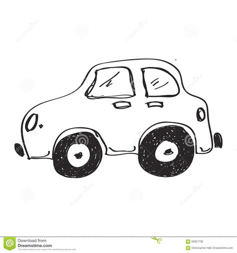 Simple Doodle Of A Car Stock Vector Image 58357736