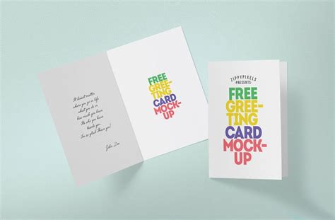 folding greeting card template photoshop greeting card mockup mockupworld
