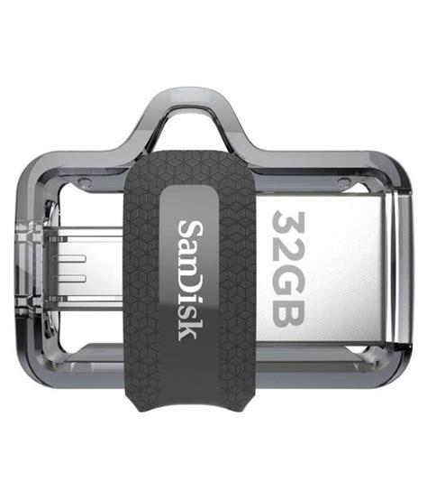 Sandisk Otg 32gb Black sandisk ultra dual drive 32gb usb 3 0 otg pendrive black