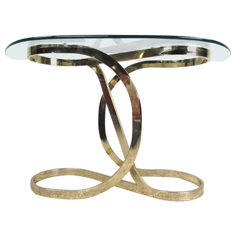 infinity console contemporary modern brass infinity console table for sale