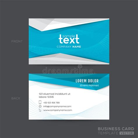 Wave Business Card Template Free Word by Blue Wave Modern Business Card Design Stock Vector
