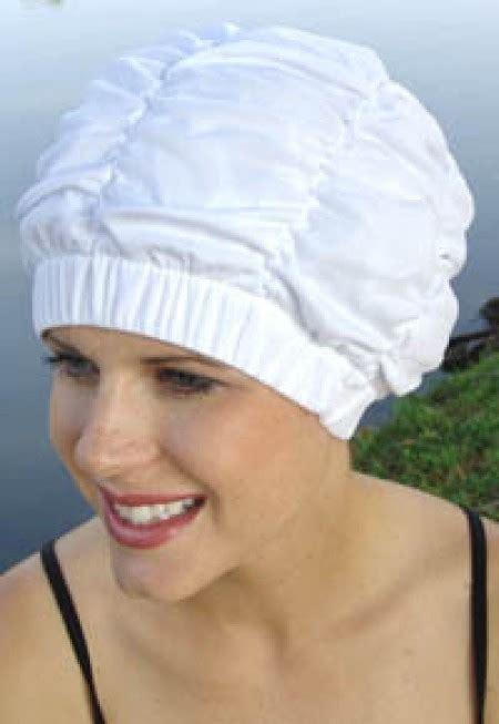 Shower Hat by Shirred Shower Cap By Sync Vintage Retro Swim Cap