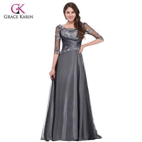 September Sleeve Dress By Grace by Grace Karin Grey Half Sleeve Evening Dresses