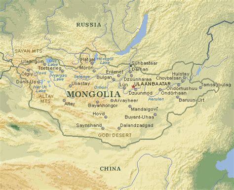 mongolia map mongolia map