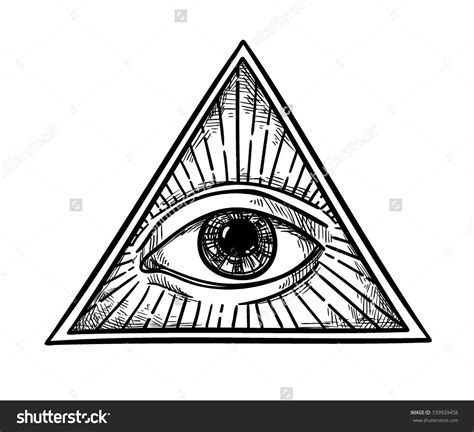 Eo Khimar Triangle Cutting M all seeing eye clip black and white pictures to pin on pinsdaddy
