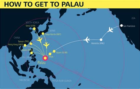 how to get to palau 7 gateways to get you into palau infographic