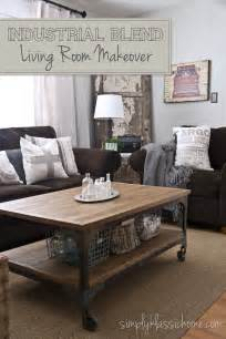 wohnzimmer industrial industrial blend living room makeover reveal yellow