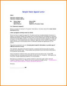 Insurance Dispute Letter Template 9 Appeal Letter Exle Wedding Spreadsheet