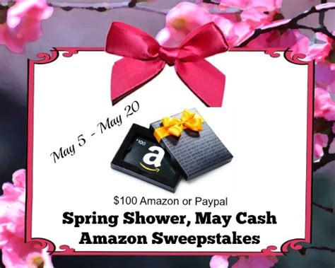 The View Spring Cash Sweepstakes - spring showers giveaway 100 amazon or paypal gift card