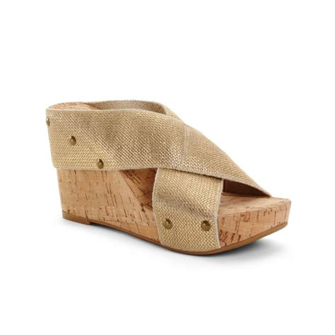lucky brand wedge sandals lucky brand miller2 wedge sandals in beige gold lyst