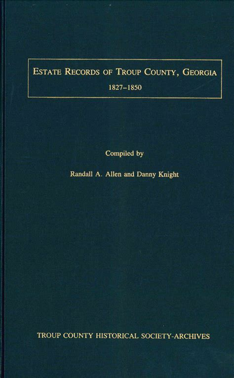 Troup County Marriage Records Troup County Archives Lagrange Book Shop
