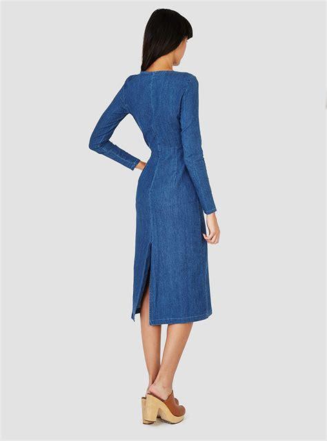 Soft Denim Dress by Comey Soft Denim Tenby Dress Indigo In Blue Lyst