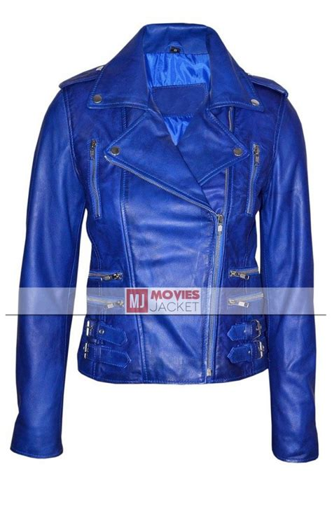 blue motorbike jacket asymmetrical zipper women s blue leather motorcycle jacket