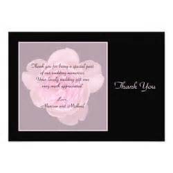 thank you cards for wedding gifts wedding gift thank you cards custom invitations zazzle