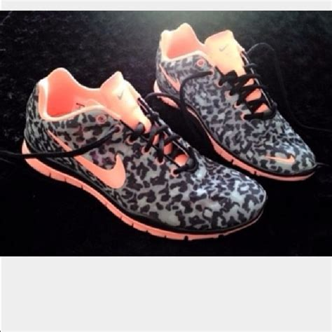42 nike shoes grey and coral cheetah print nike