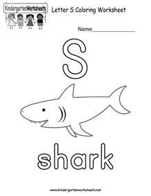 letter s coloring worksheet free kindergarten