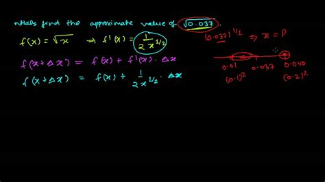 How To Search On How To Find Approximate Value Using Differential Calculus