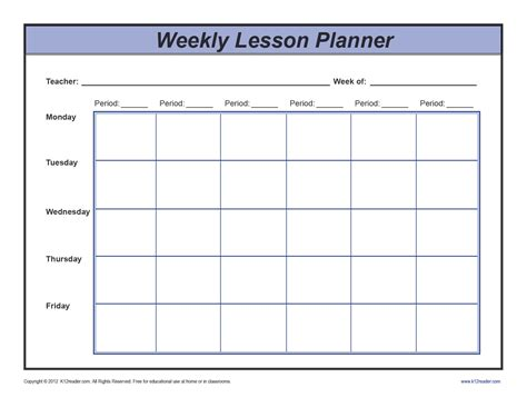 week lesson plan template week lesson plan template z l site