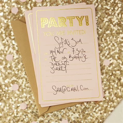 Party Invitation Templates Pink And Gold Party Invitations Easytygermke Com Invitation Gold Birthday Invitation Template