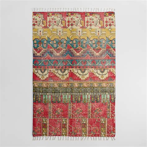 cotton dhurrie rug 5 x8 cotton dhurrie area rug world market