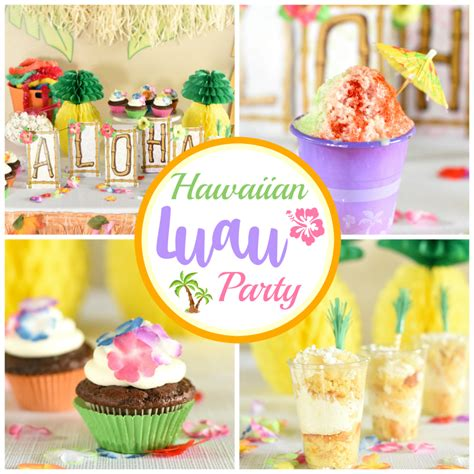 theme names for hawaiian parties hawaiian luau party ideas fun squared