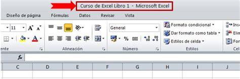 barra superior excel hojas de calculo informate20 30