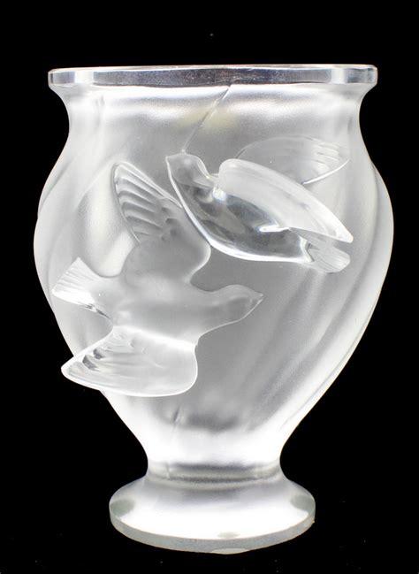 lalique bird vase lalique rosine bird vase