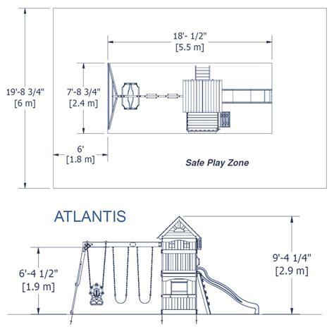 swing set measurements swingsets and playsets nashville tn atlantis swing set