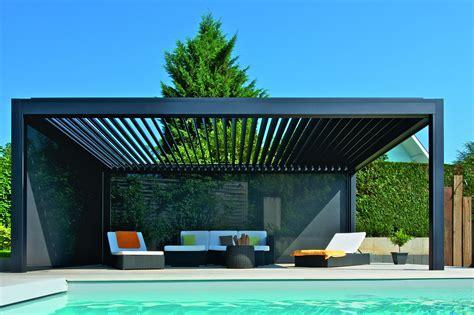 pavillon mit lamellendach lamellendach f 252 r terrasse und garten gibt es bei g 220 tler