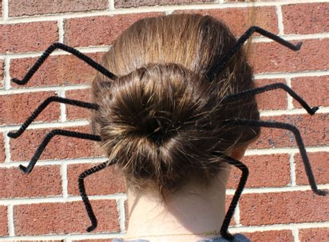epic spider bun hairstyle with spiderweb included five easy hairstyles for
