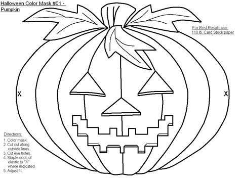 free printable halloween masks to colour masks to color coloring home