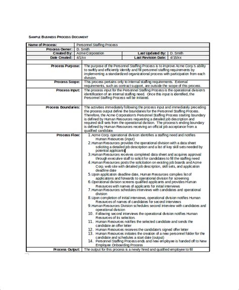 process document template to be process document template sle business document 7